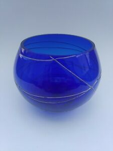 Cobalt Blue Partylite Glass Votive Candle Holder