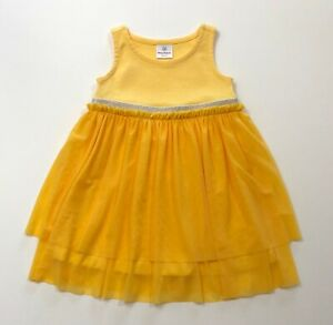 HANNA ANDERSSON Yellow Floaty Soft Dress Size 80 18-24 Months EUC