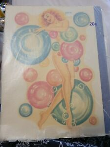 Meyercord Bubble Girl Decal Vintage