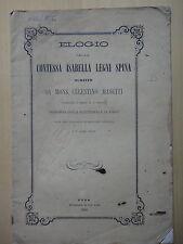 1868-ELOGIO DELLA CONTESSA ISABELLA LEGNI SPINA-FANO-Mons.CELESTINO MASETTI