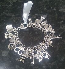 Handmade 50 Fifty Shades of Grey Inspired Loaded Charm Bracelet 22+ charms