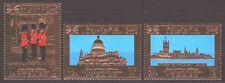 Yemen Kgr 1970 ** Mi.1037/39 A London Parliament St. Pauls Cathedral Gold Foil