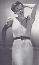 Vintage Knitting PATTERN to make 1930s One-Piece Knit Dress-NOT finished item.
