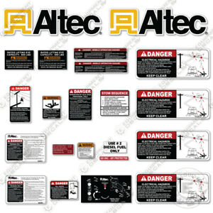 Altec AT235P Decal Kit With Safety Stickers - Bucket Truck 3M Vinyl