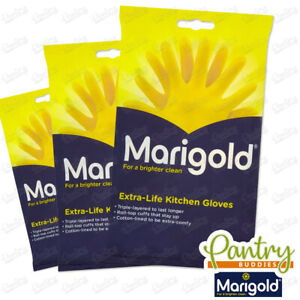 Marigold Gloves - Extra Life Kitchen Cleaning Washing up Gloves All Sizes S/M/L