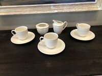 MIKASA Italian Countryside 8 piece Coffee set 3 cups 3 saucers sugar cream READ