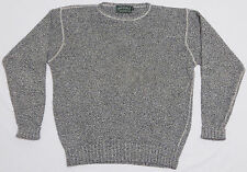 Men's POLO COUNTRY RALPH LAUREN Sweater LARGE Gray SILK COTTON Knit CREWNECK