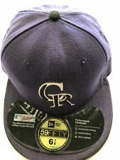Colorado Rockies New Era 59Fifty MLB Fitted Cap Hat Size 6-7/8 New Old Stock