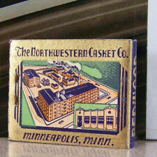 Vintage Matchbook M7 Minneapolis Minnesota Northwestern Casket Co Funeral Supply
