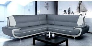 Carol 3+2 Seater and Corner Leather Sofa