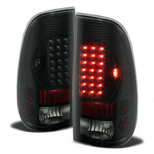 Black Smoke 1999-2007 Ford F250 Superduty 97-03 F150 LED Tail Lights Brake Lamps