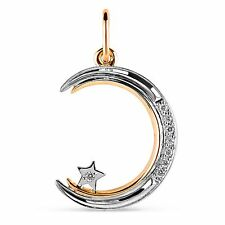 585/14ct Russian Rose Gold Lovely  Pendant Gift Boxed