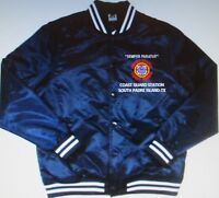 COAST GUARD STATION* SOUTH PADRE ISLAND-TX *EMBROIDERED 1-SIDED SATIN JACKET