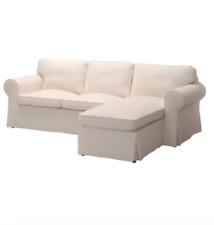 Bezug für IKEA EKTORP  3 er Sofa mit Recamierein Lofallet beige. cover only