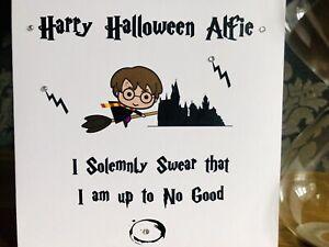 Handmade Personalised Harry Potter Birthday card Halloween card Son Daughter ⚡
