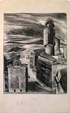 Lithograph by unknown artist. Townscape