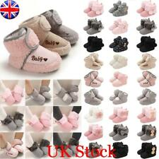 Newborn Baby Girl Fur Lined Boots Crib Pram Shoes Winter Warm Snow Booties 0-18M
