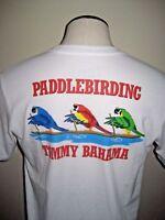 Tommy Bahama Mens Paddle Birding Parrots SS Cotton T Shirt White Free Ship