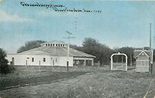 Clarinda Iowa~Chautauqua Fair Grounds~Arch-Picket Gate~Little Barn~Pavilion~1913