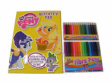 Niños Niñas My Little Pony Para Colorear libro de actividades 16 Rotuladores +