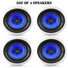 Lot of 4 Pyle Home 300 Watt High End 8-Inch Two Way In-Ceiling Speaker System