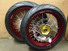 "Warp 9 17"" Supermoto Wheels with Michelin Tires XR400R XR650R XR650L"