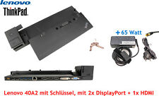 Lenovo ThinkPad T450, T450s, T460 Dockingstation 40A1, 40A2 + 65W Netzteil