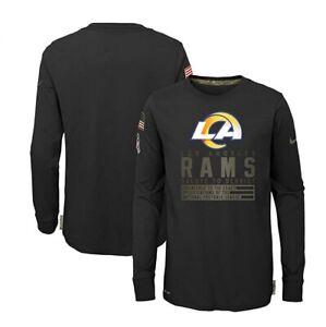 Los Angeles Rams Nike Youth Boys 2020 Salute To Service Long Sleeve Shirt