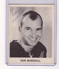 DON MARSHALL SIGNED 1965-66 COCA-COLA HOCKEY CARD NHL NY RANGERS AUTOGRAPH AUTO