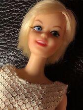 Vintage 1966 Mattel TNT Blonde Casey Barbie Doll Original Swimsuit Mod #1180