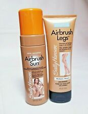 2 Lot,Sally Hansen Airbrush Sun Legs Tanning Mousse & Airbrush Leg Makeup Medium