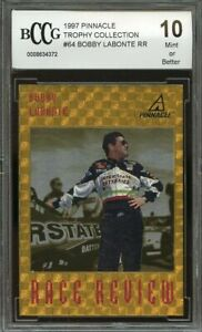 1997 pinnacle trophy collection #64 BOBBY LABONTE RR BGS BCCG 10