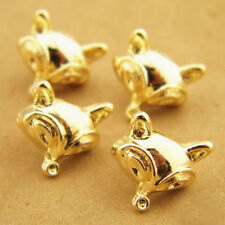 Gold Novelty Fox Shank Button Metal for Sewing or Embellishments 12 Pcs