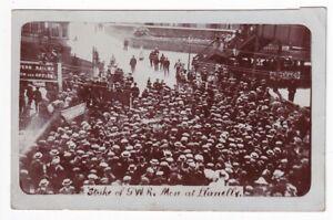 STRIKE OF GWR MEN AT LLANELLY  1911