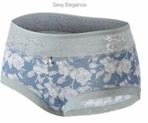 2Pack Mid Waist Lace Panties Underwear Women's Ladies Briefs Boy shorts Knickers