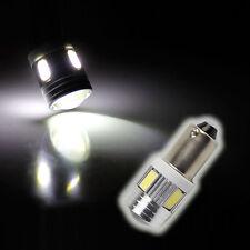 2x 6 SMD 5630 LED 233 BA9S T4W BAYONET CAP 360 HID XENON WHITE SIDE LIGHT BULB