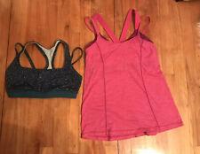 Lululemon Lot Size 8 Top Sports Bra Tops & Tote Shopping Bag