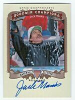 2012 Goodwin Champions Autograph Jack Morris Minnesota Detroit Toronto MLB HOF
