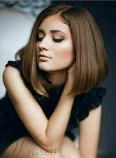 Hot Sell Wig New Fashion Beautiful Women's Short Dark Brown Straight Full Wigs