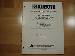 Kubota 6' Dozer L2010 owners operators manual parts catalog
