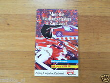 1992 MEET THE MARLBORO MASTERS AT ZANDVOORT DUTCH 20 PAGES,LAMMERS,BMW 316I,F-3