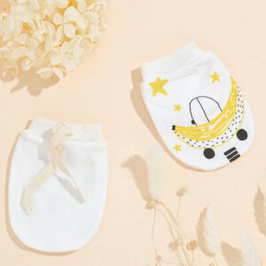 1 Pair Baby CARTOON Animal Soft Cotton Anti-scratch Gloves MITTENS - MELB stock