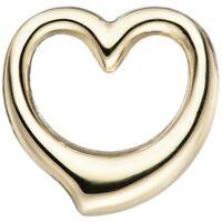Anhänger Herz Schwingherz Herzanhänger aus 585 Gold Gelbgold Halsschmuck Damen