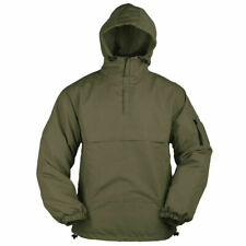 Mens Summer Hooded Lightweight Army Military Anorak Jacket Windbreaker Top Green