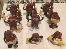 1980'S California Raisins Surfboard Skeboard Music Pvc * 9 Figures *