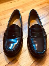 COLE HAAN MEN'S SIZE 7.5 D PINCH PENNY LOAFERS LEATHER BURGUNDY SLIP ON 03504