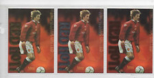 DAVID BECKHAM MANCHESTER UNITED Futera Red Hot SILVER insert