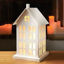 10 LED Warm White Light Up House Light Christmas Decor Party Wedding Wooden Gift