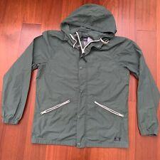 Abercrombie & Fitch Men's Green Full Zip Hooded Rain Winter Jacket Sz M Coat NWT