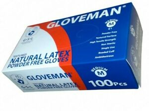 Gloveman STRETCH LATEX Premium Disposable Gloves 100,200,1000,2000 Box / Cases